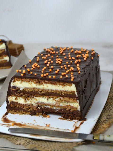 Tarta De Dos Chocolates Con Galletas Sin Horno