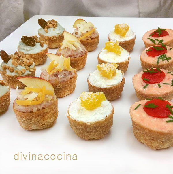 Tartaletas saladas variadas para aperitivos - Entremeses y aperitivos ...
