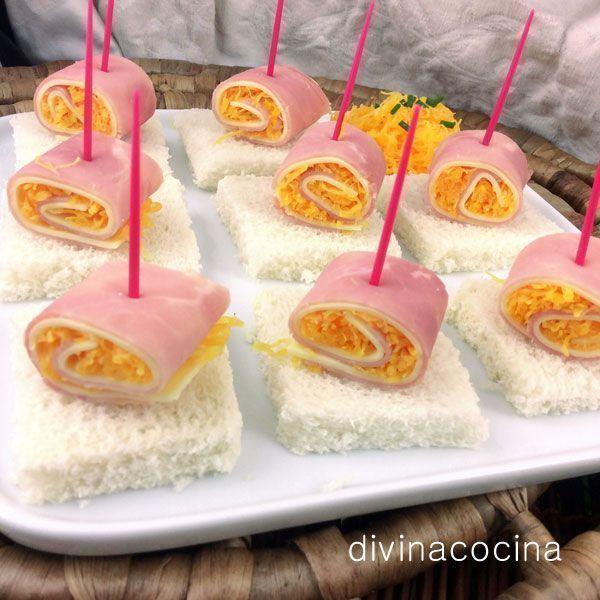 Rollitos de jam n queso y huevo hilado - Los mejores aperitivos ...