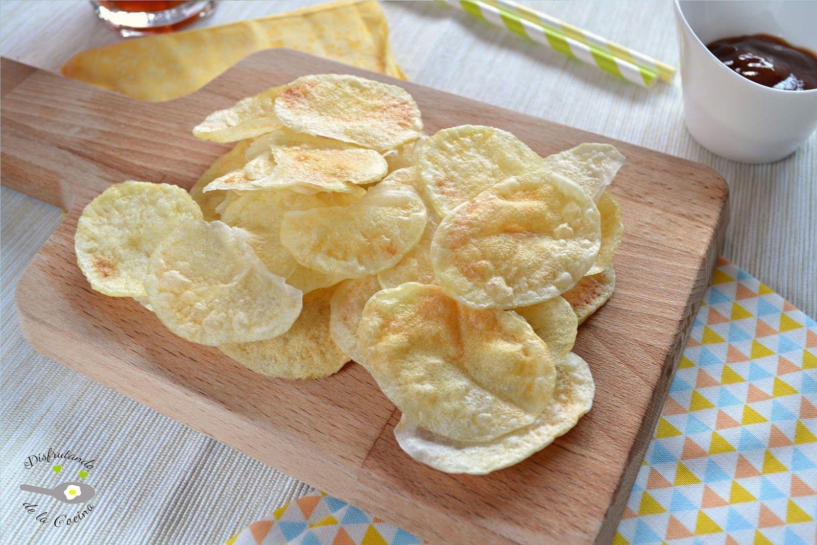 Patatas chips al microondas for Cocina al microondas