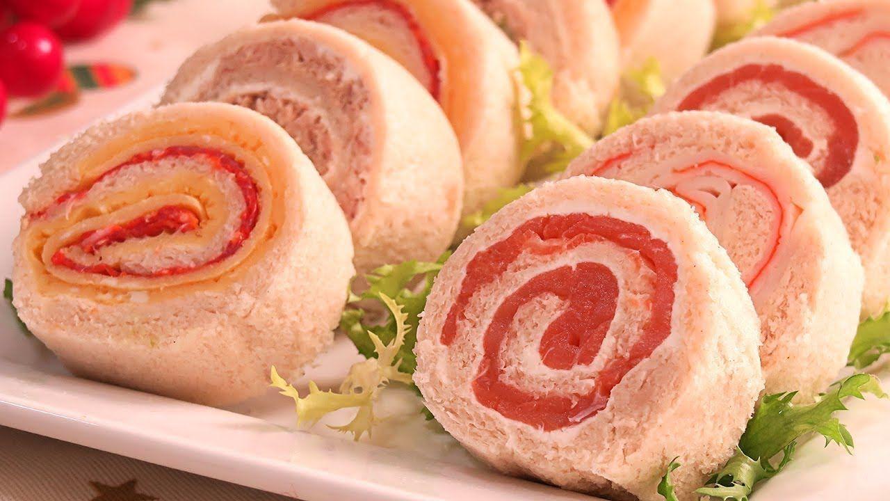 Rollitos de canap s con pan de molde muy f ciles r pidos y for Canapes faciles y economicos