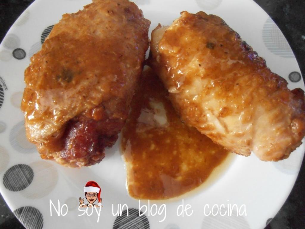 Muslitos de pollo rellenos en salsa - Muslitos de pollo ...