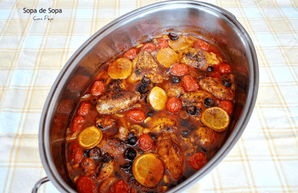 Muslos de pollo en salsa de tomate y aceitunas for Muslos pollo en salsa
